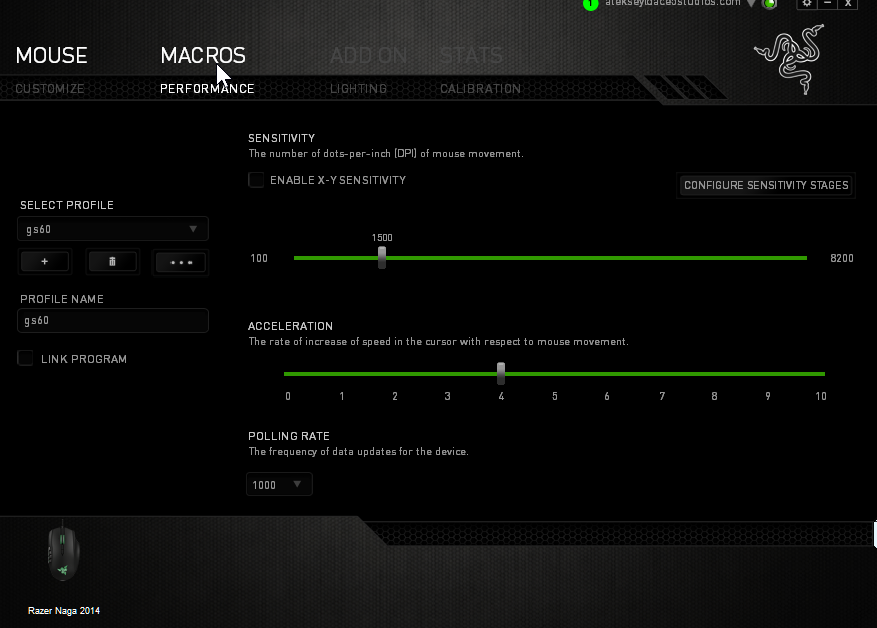 My settings for the Razer Naga 2014