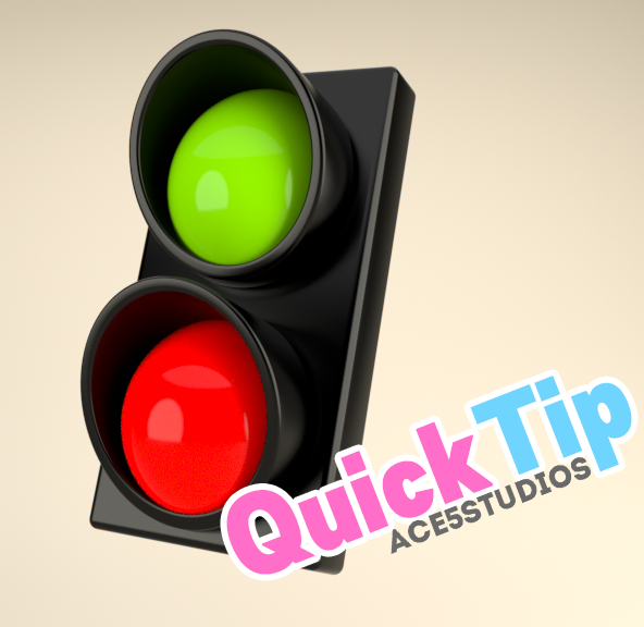 Traffic lights Cinema 4D