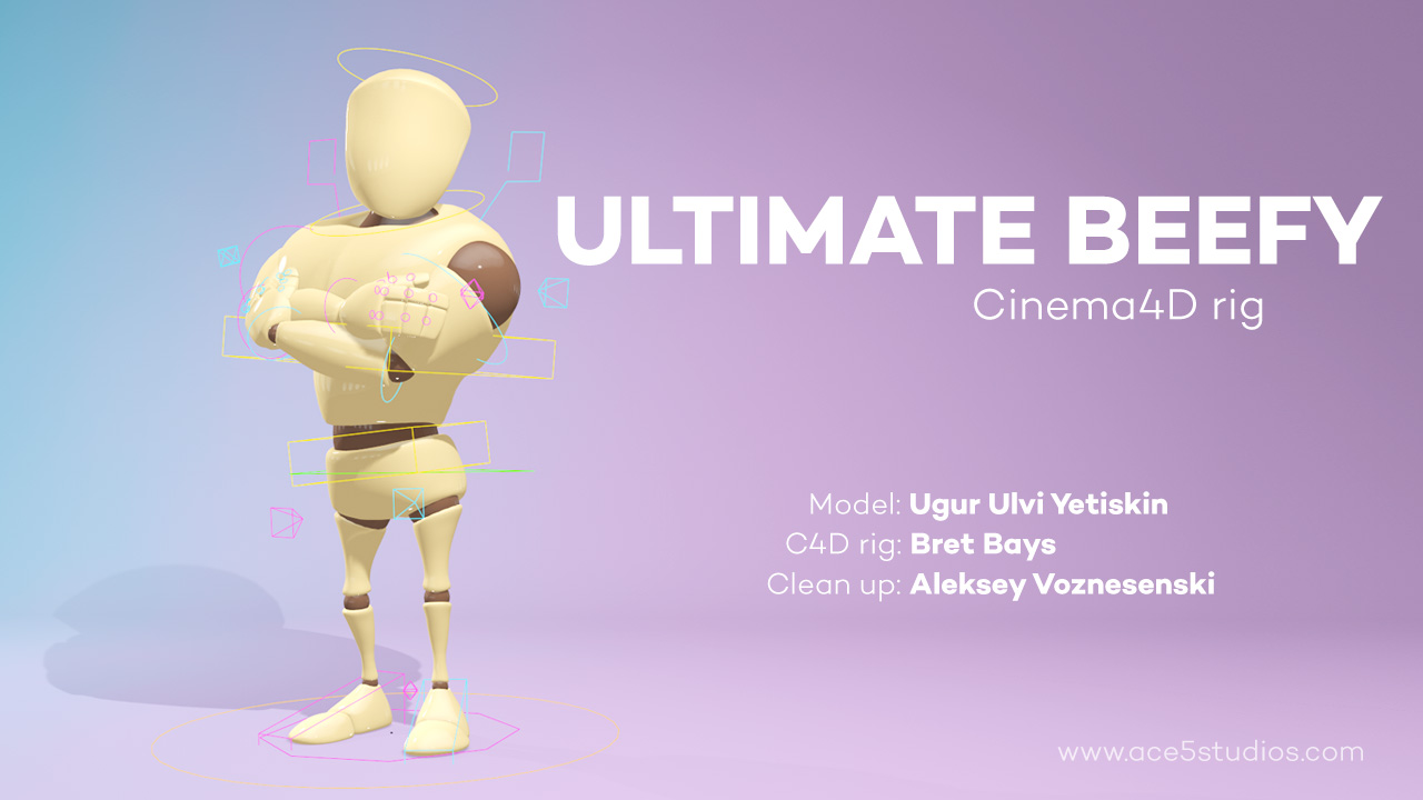 Ultimate #Beefy4D Cinema4D Character rig!