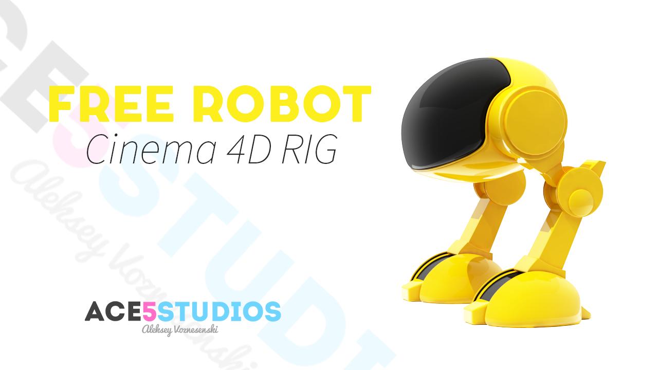 Free 2 legged robot rig C4D