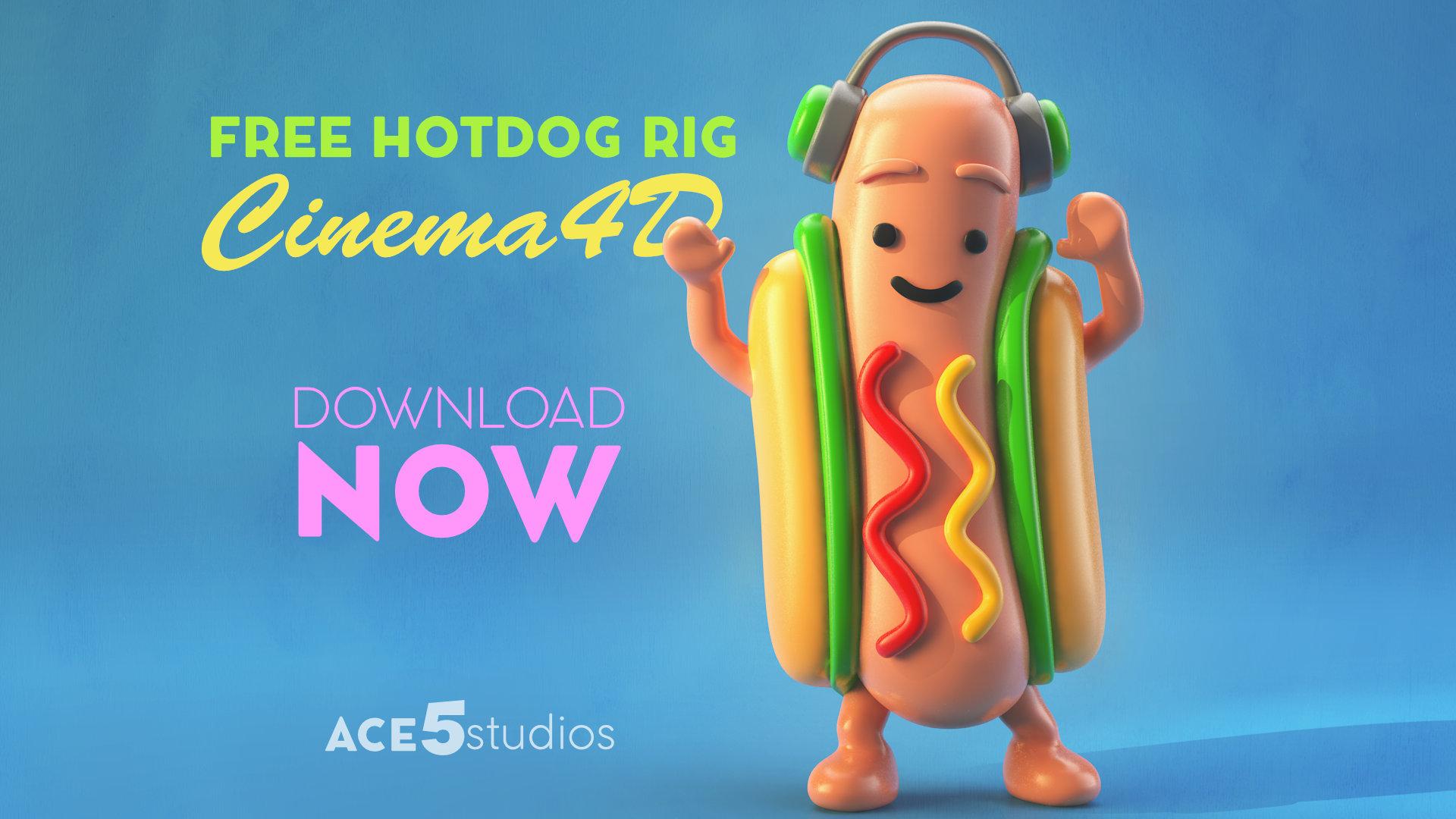 Hotdog4D – Free Cinema4D Character Rig