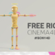 free cinema 4d rigged bony character