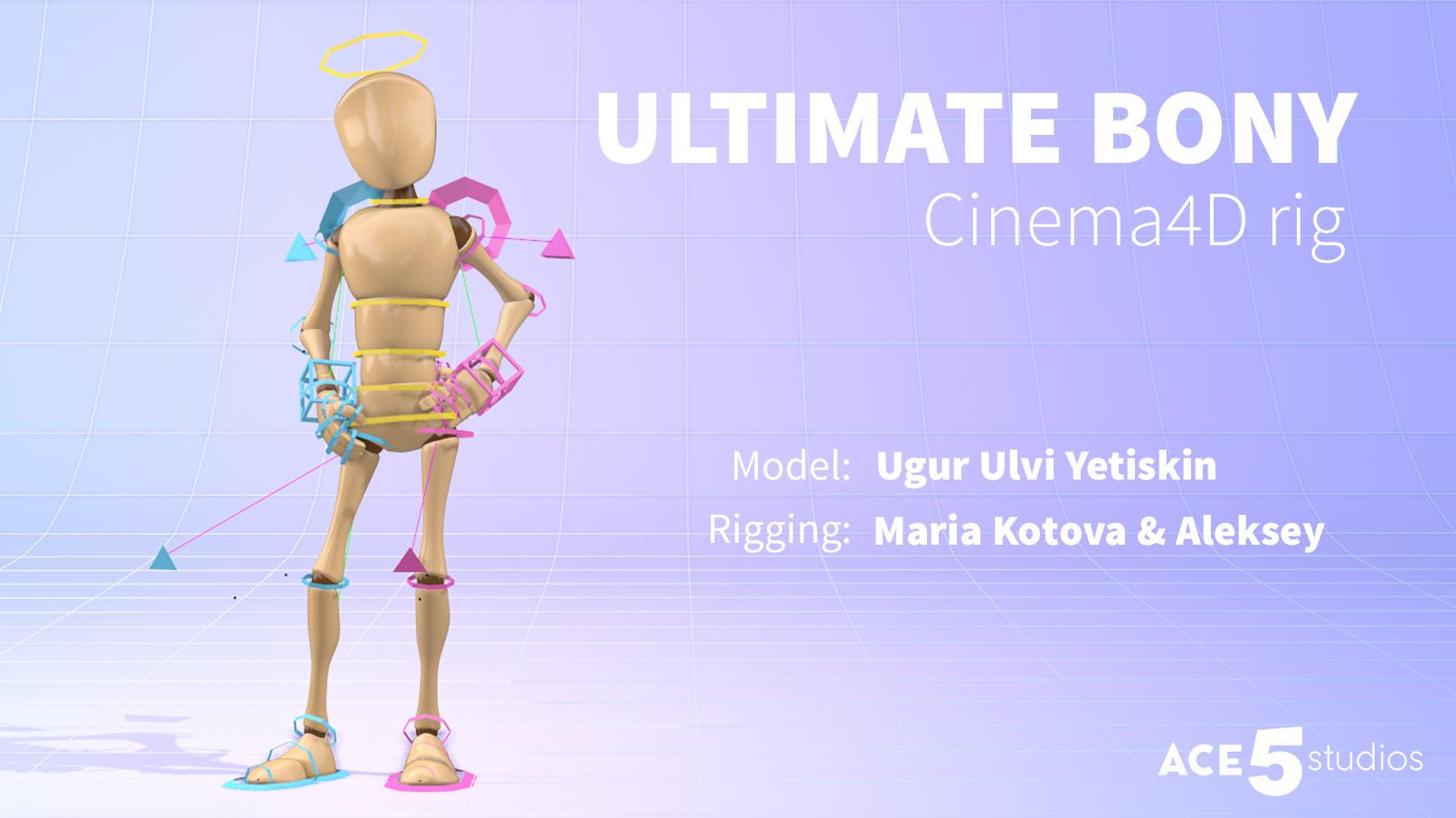 Bony Cinema 4D character rig ace5 studios