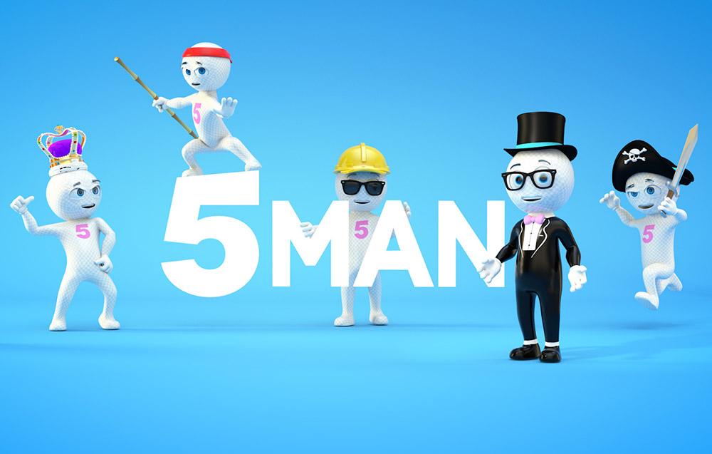 5 Man - milk man - Cinema 4D rigged puppet Character - v1 5 »