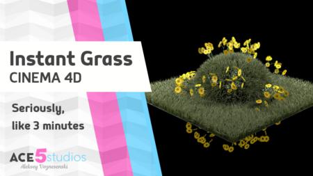 Instant Grass Tutorial – Cinema 4D