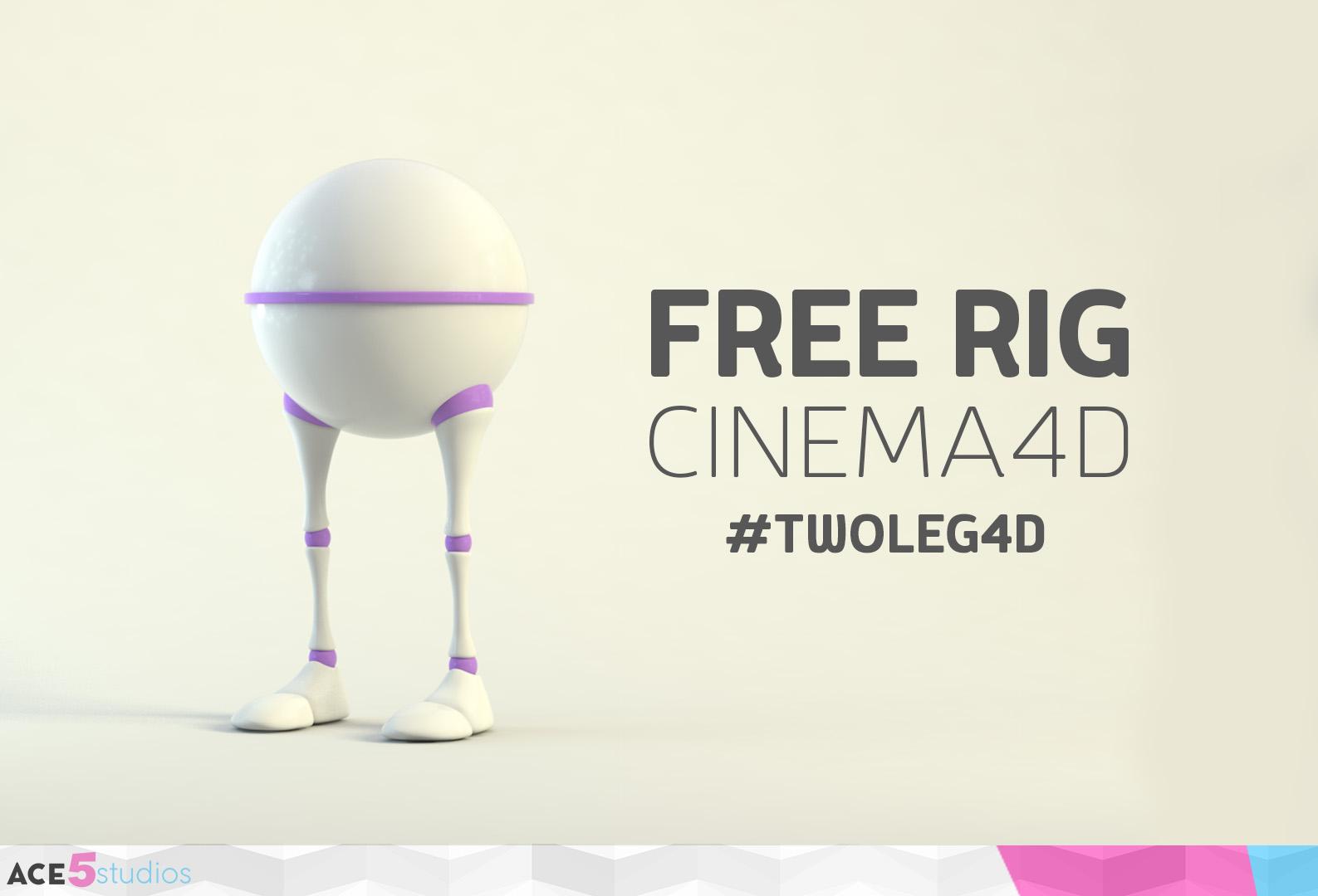 Ultimate #TwoLeg4D Free Cinema4D Character rig!
