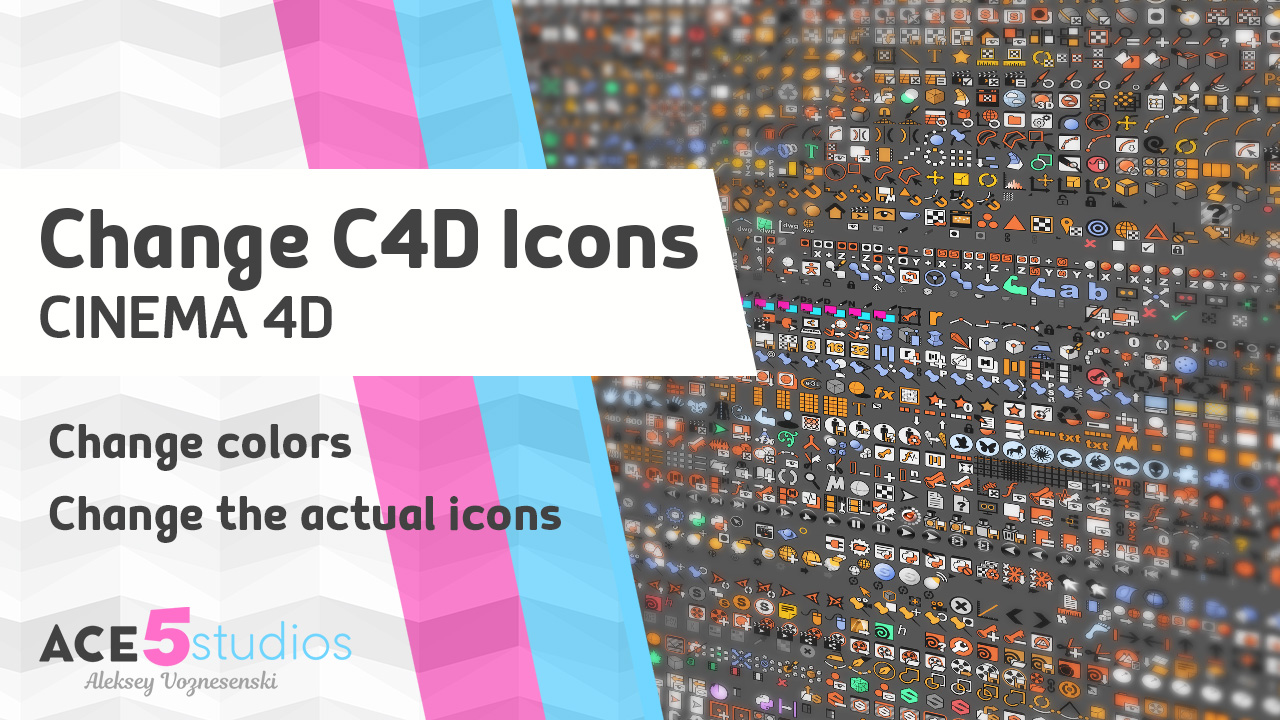 C4D icons and their colors