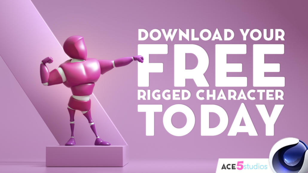 Beefy4D Free Cinema4D Character rig - #Lifting #GymTime