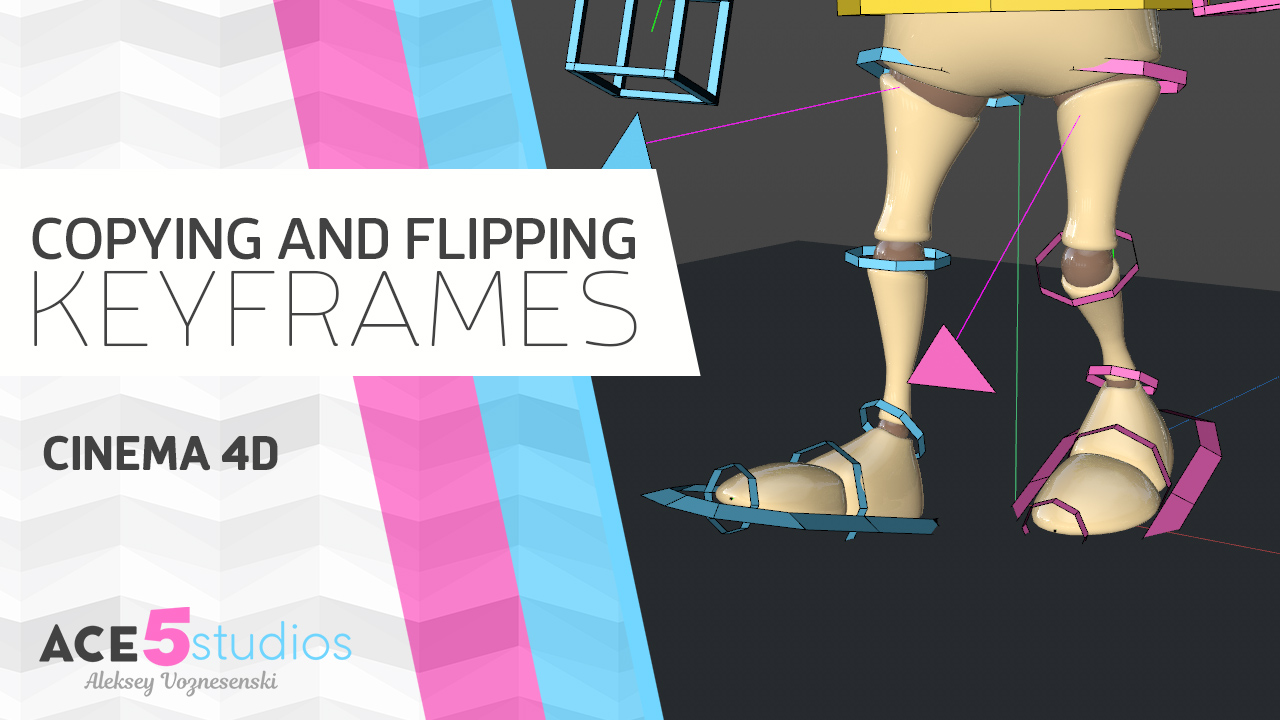 Copy and Flip Keyframes – Cinema4D tutorial