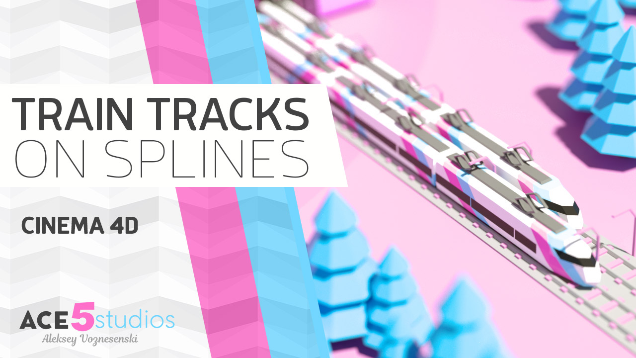 Train Tracks – Cinema4D tutorial