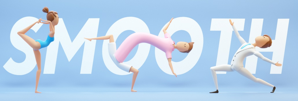 c4d rig human stylized doing yoga rigged in cinema 4d