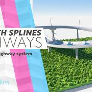 highway or motorway in cinema 4d c4d tutorial
