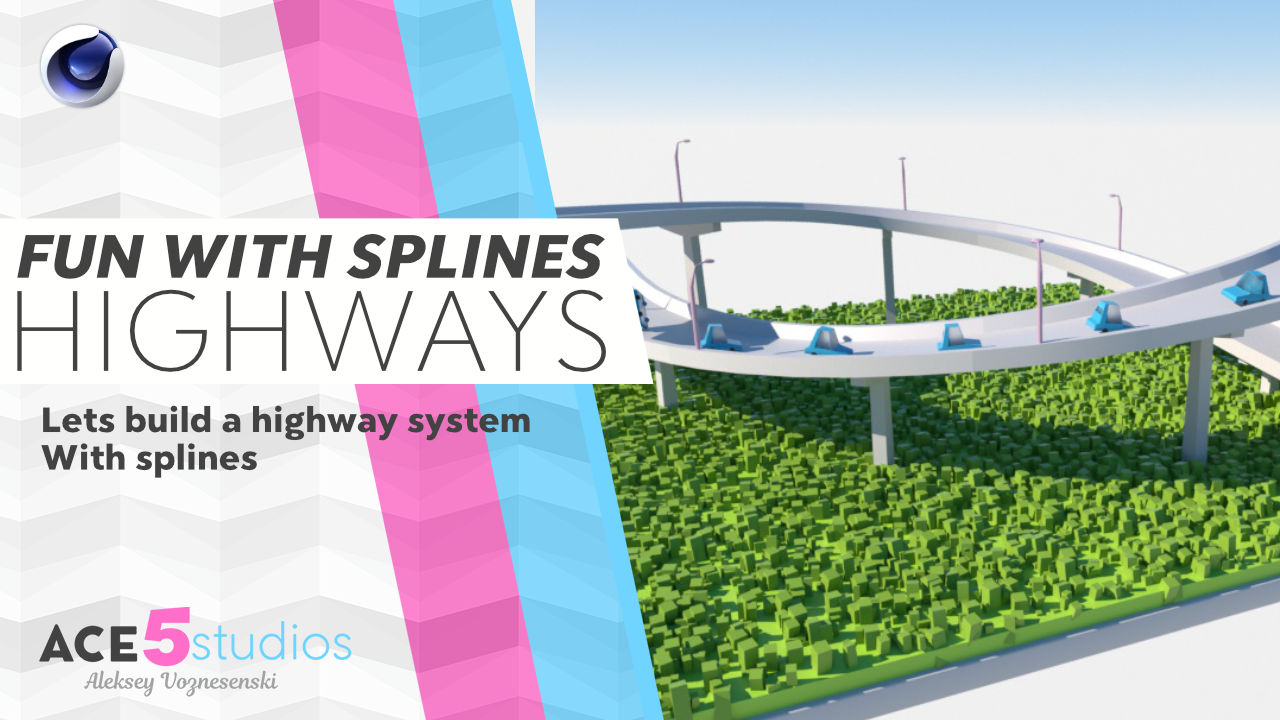 highWay  Tutorial – Fun With splines (Cinema 4D)