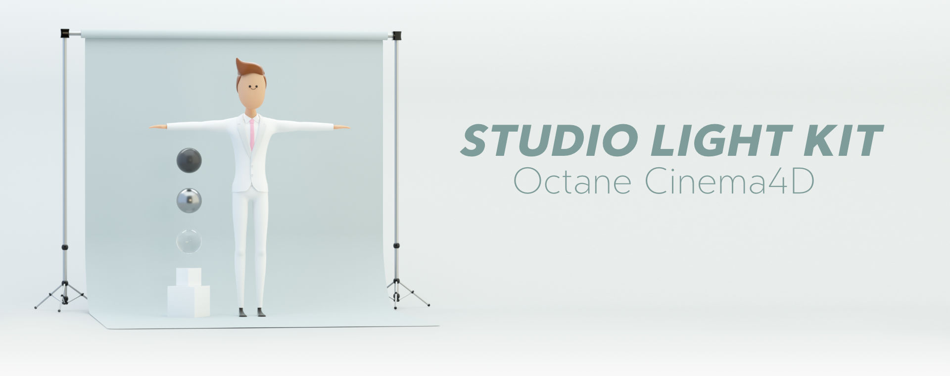 studio lighting octane character cinema 4d c4d