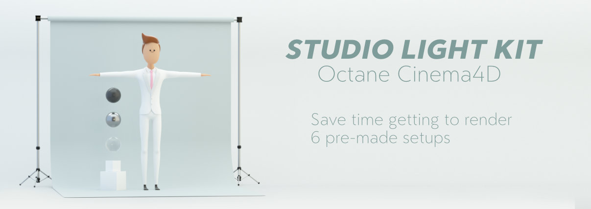 studio lighting octane cinema 4d for characters rigged in c4d