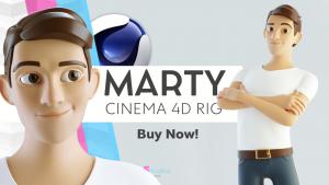 cinema 4d c4d rigged character male boy man cartoon stylized human
