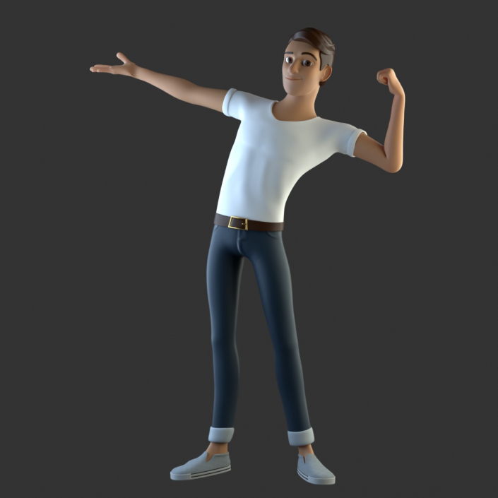 cinema 4d c4d rigged character male boy man cartoon stylized human