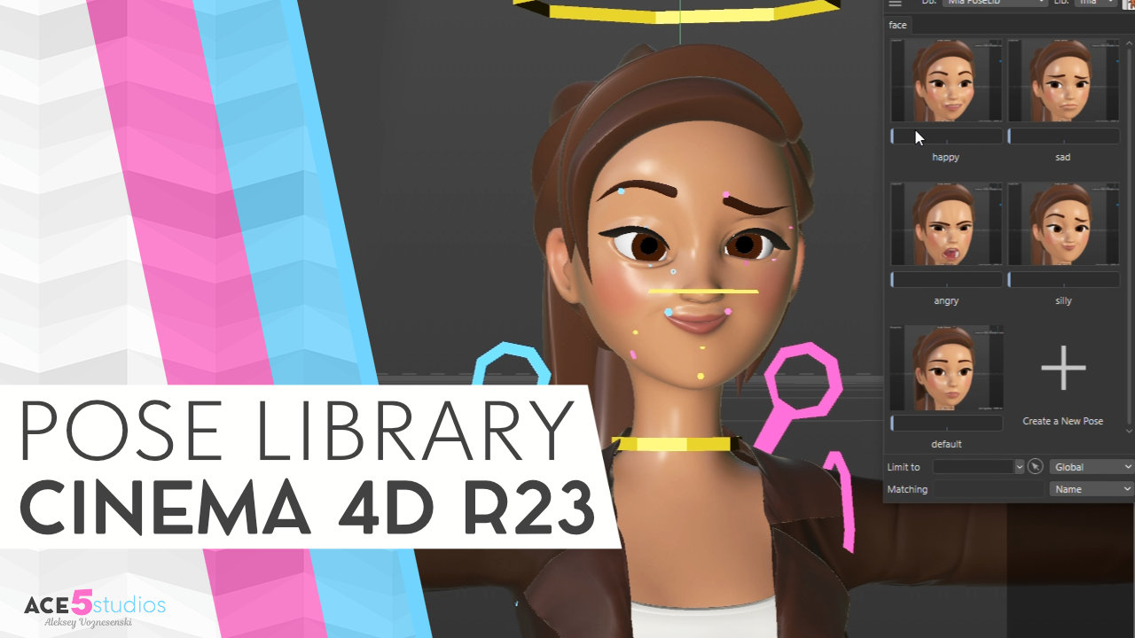 Pose Library Cinema 4D – how to make your own poses.